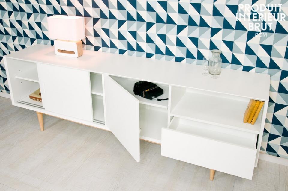 enfilade nordique idéale en meuble TV et meuble de rangement