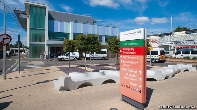 Frimley Park Hospital in Surrey offers a wide range of services