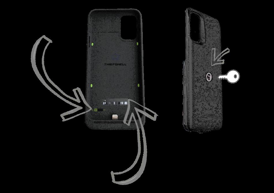 Le fonctionnement d'une coque de protection de smartphone anti-vol autonome